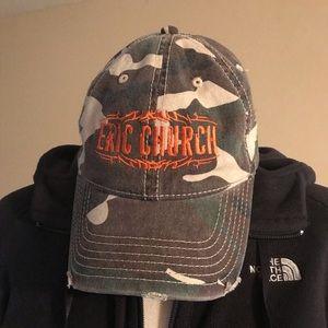 Eric Church distressed hat